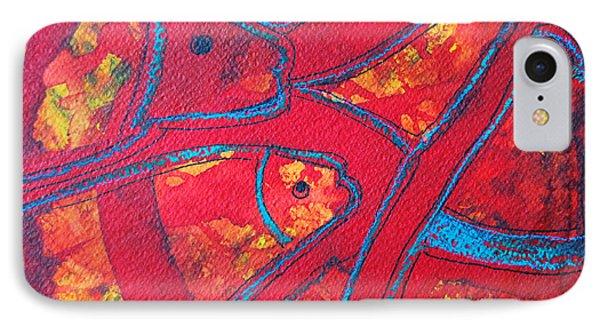 Even Fishes Love Red Phone Case by Ana Maria Edulescu