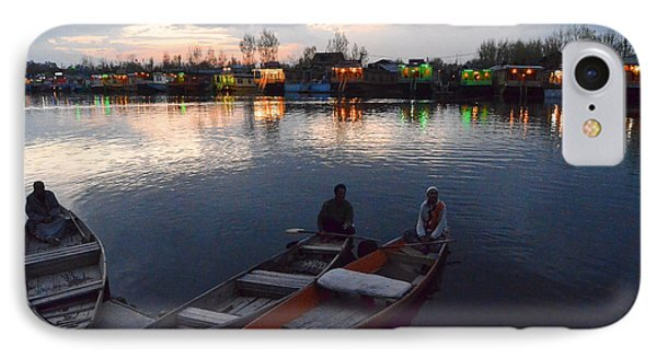 Evening On Dal Lake IPhone Case by Fotosas Photography