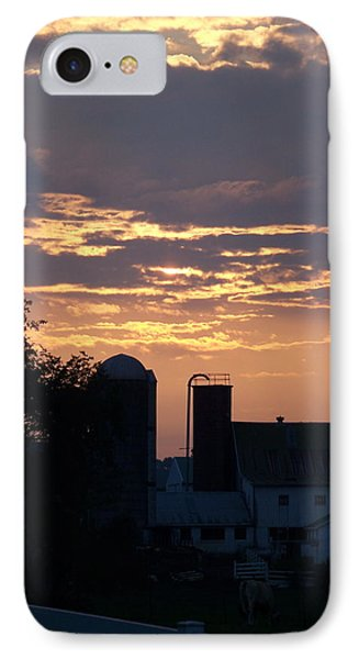 IPhone Case featuring the photograph Evening On The Farm by Robin Regan