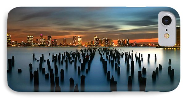 Evening Sky Over The Hudson River IPhone Case by Larry Marshall