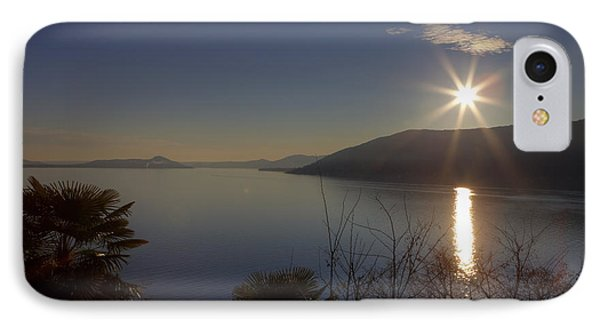 evening sun over the Lake Maggiore Phone Case by Joana Kruse