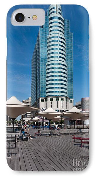 Exchange Place Centre II IPhone Case by Clarence Holmes
