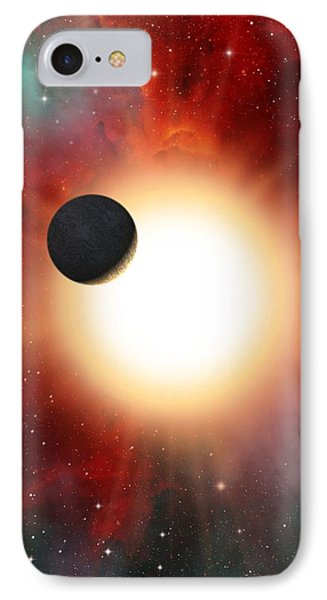 Exoplanet And Parent Star, Artwork Phone Case by David Ducros