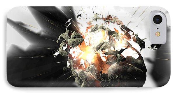 Exploding Brain IPhone Case by Christian Darkin