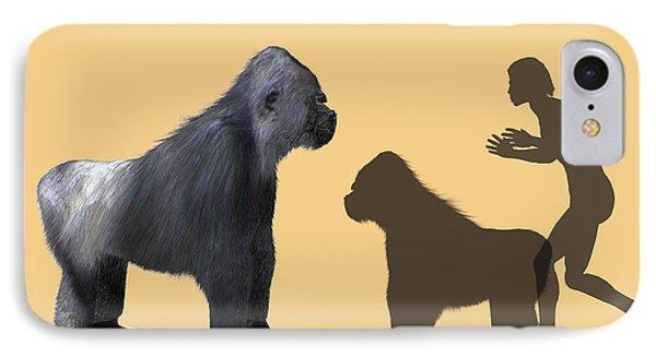 Extinct Giant Gorilla Phone Case by Christian Darkin