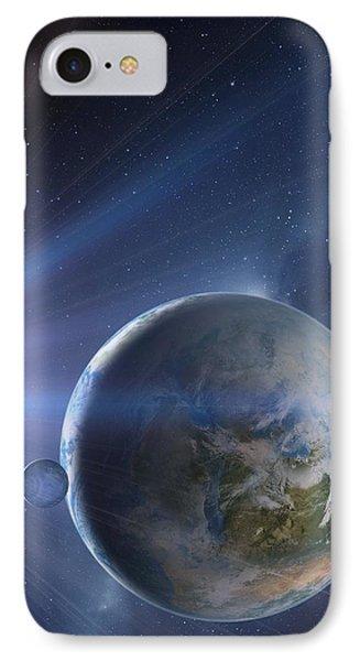 Extrasolar Earth-like Planet, Artwork Phone Case by Detlev Van Ravenswaay