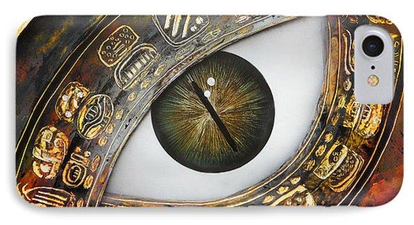 Eye Calendar IPhone Case by Angel Ortiz