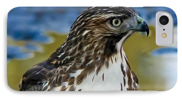 IPhone Case featuring the photograph Eye Of The Hawk by Mitch Shindelbower