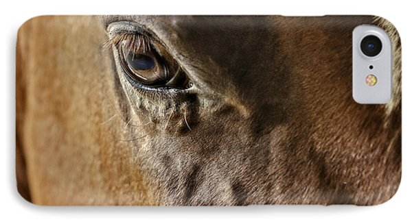 Eye Of The Horse Phone Case by Susan Candelario
