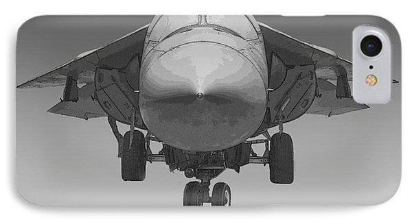F-111e Aardvark Drawing Phone Case by Tim Mulina