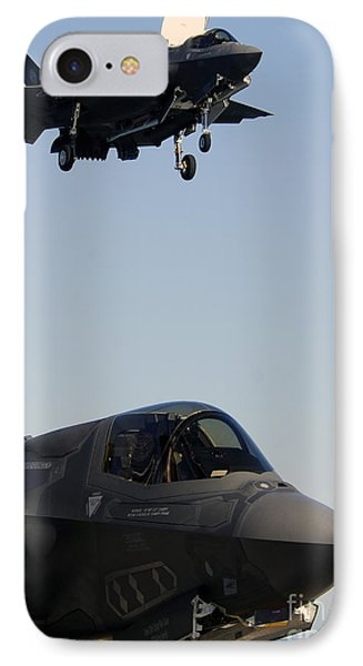 F-35b Lighnting II Variants Land Aboard Phone Case by Stocktrek Images