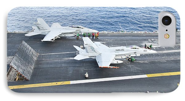 Fa-18 Aircraft Prepare To Take Phone Case by Stocktrek Images