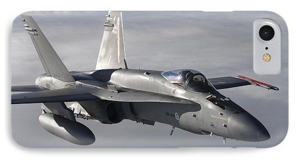 Fa-18 Hornet Of The Finnish Air Force IPhone Case by Daniel Karlsson