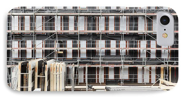 Facade Of Buildings Under Construction IPhone Case by Corepics