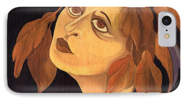 Face In Autumn Leaves IPhone Case