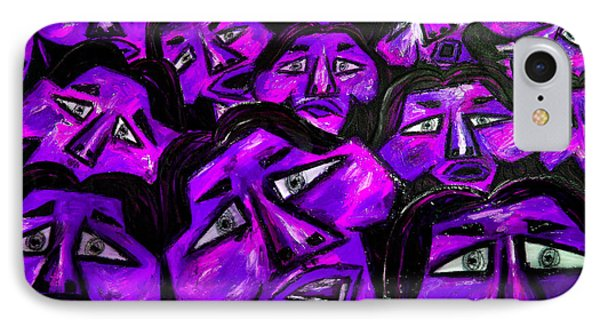 Faces - Purple Phone Case by Karen Elzinga