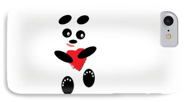 Fading Like A Flower. Panda In Love. #01 Phone Case by Ausra Huntington nee Paulauskaite