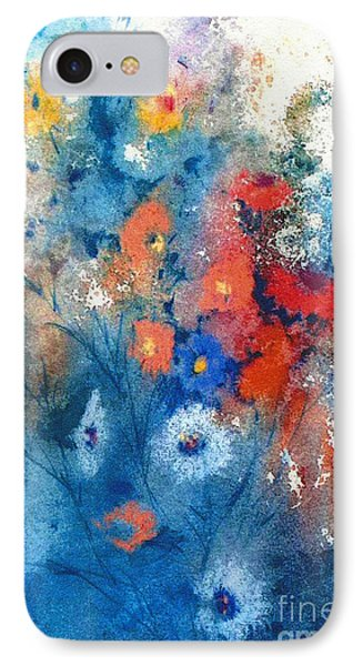 IPhone Case featuring the painting Faerie Flowers by Joan Hartenstein