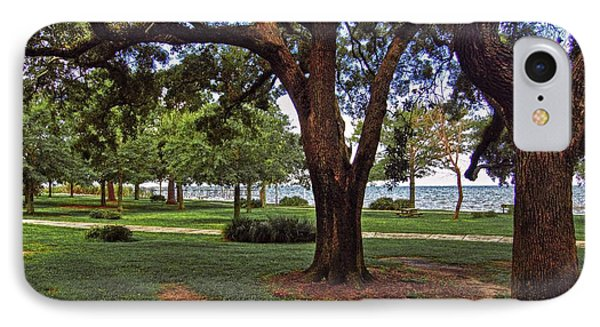Fairhope Lower Park 2 Trees Phone Case by Michael Thomas