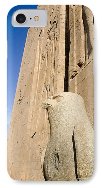 Falcon Statue At Edfu IPhone Case by Darcy Michaelchuk