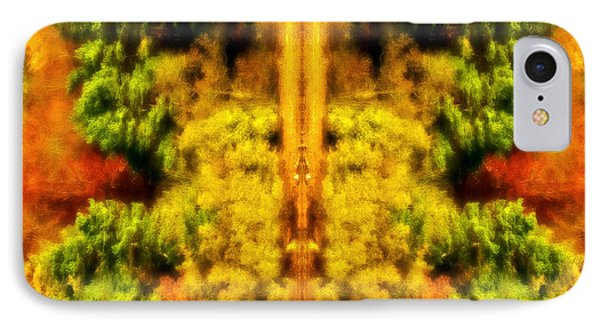 IPhone Case featuring the photograph Fall Abstract by Meirion Matthias