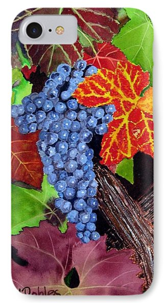 Fall Cabernet Sauvignon Grapes Phone Case by Mike Robles