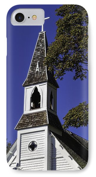 Fall Chapel IPhone Case by Ken Stanback