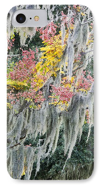 Fall Colors In Spanish Moss Phone Case by Carolyn Marshall