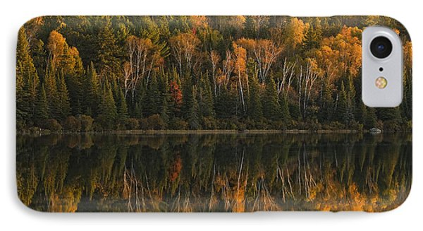 Fall Colors Reflected In The Waters IPhone Case by Robert Postma