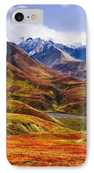 Fall Colours And Alaska Range, Denali Phone Case by Yves Marcoux