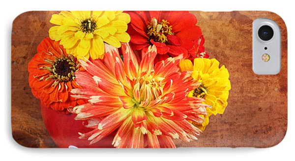 Fall Flower Arrangement IPhone Case by Verena Matthew