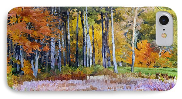 Fall In The Arboretum IPhone Case