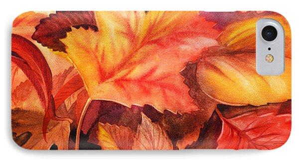 Fall Leaves Phone Case by Irina Sztukowski