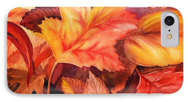 Fall Leaves IPhone Case by Irina Sztukowski