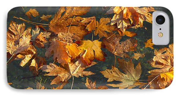 Fall Maple Leaves On Water IPhone Case by Sharon Talson