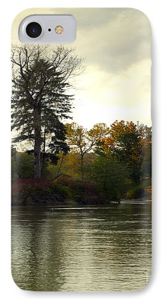Fall On The Snohomish River IPhone Case