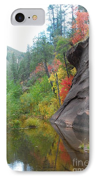 Fall Peeks From Behind The Rocks IPhone Case