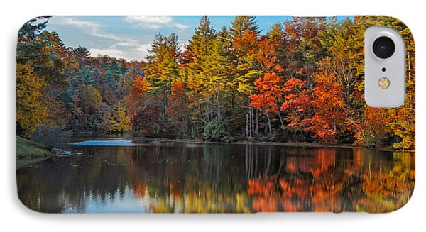 Fall Reflection IPhone Case by Ronald Lutz