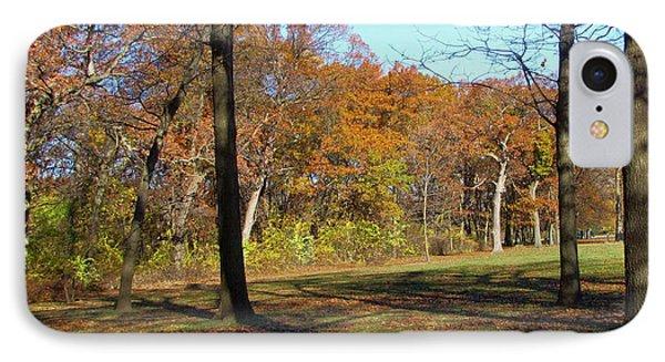 Fall Tree Shadows IPhone Case by Cedric Hampton