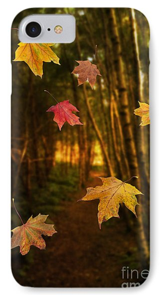 Falling Leaves Phone Case by Amanda Elwell