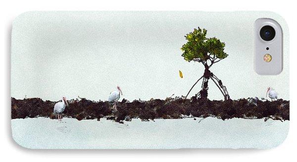 Falling Mangrove Leaf IPhone Case by Dan Friend