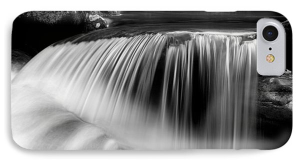 Falling Water Black And White Phone Case by Rich Franco
