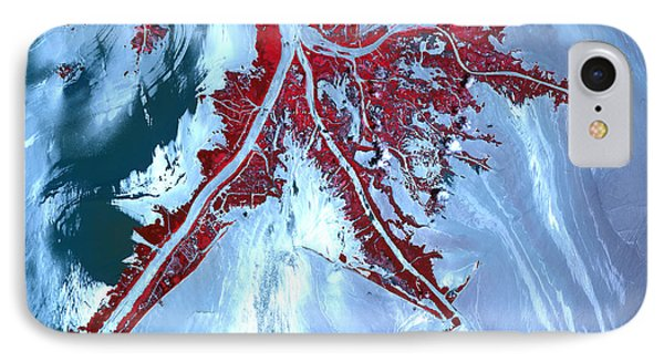 False Color Satellite View IPhone Case by Stocktrek Images
