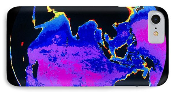 False Colour Image Of The Indian Ocean Phone Case by Dr Gene Feldman, Nasa Gsfc