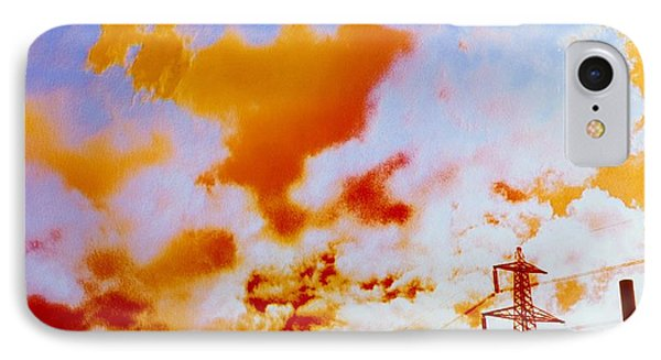 False-colour Photograph Of Ferrybridge. IPhone Case by Dr Jeremy Burgess