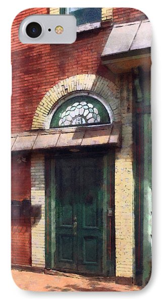Fancy Green Door Burlington Nj Phone Case by Susan Savad