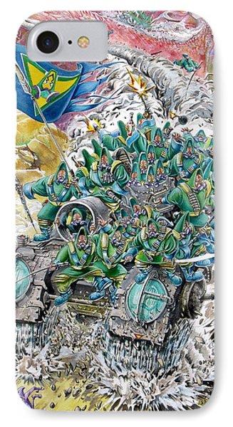 Fantasy Tank Running Wild Phone Case by Fabrizio Cassetta
