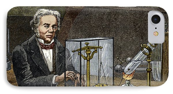 Faraday's Electrolysis Experiment, 1833 IPhone Case