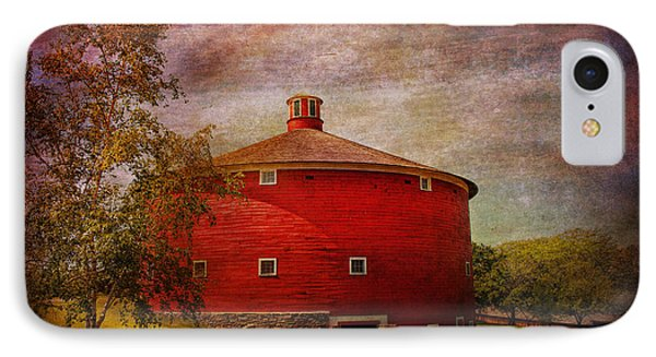 Farm - Barn - Red Round Barn  IPhone Case by Mike Savad
