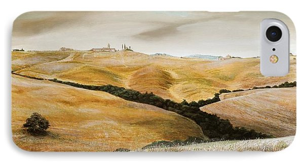 Farm On Hill - Tuscany IPhone Case by Trevor Neal